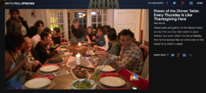 Thanksgiving Meal Nonprofit | Sensus Media
